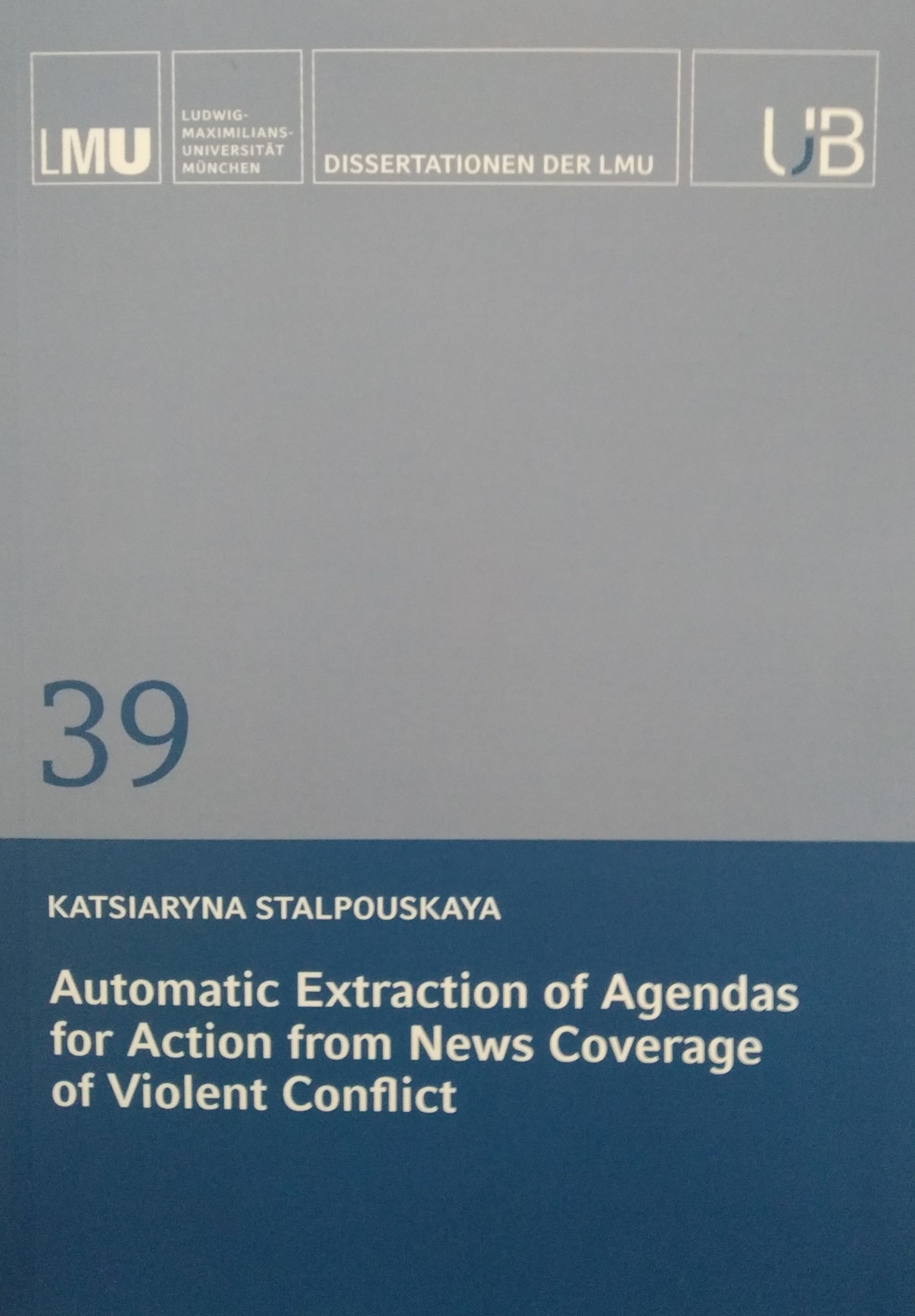 Automatic Extraction of Agendas for Action from News Coverage of Violent Conflict